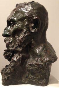 « Buste d'Auguste Rodin » - (de profil et de face) - 1892 – Camille Claudel – Buste en bronze-Musée Rodin  9eme billet | Rodin est mort il y a 100 ans 1 4 202x300
