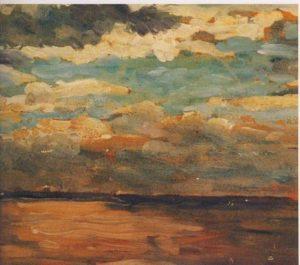 « Coucher de soleil sur la mer » Winston Churchill-huile sur toile*  15ème billet | Winston Churchill, peintre ! 5 300x265