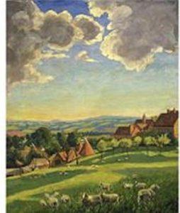 « Paysage de Chartwell avec moutons »- Winston Churchill-huile sur toile*  15ème billet | Winston Churchill, peintre ! 8 254x300