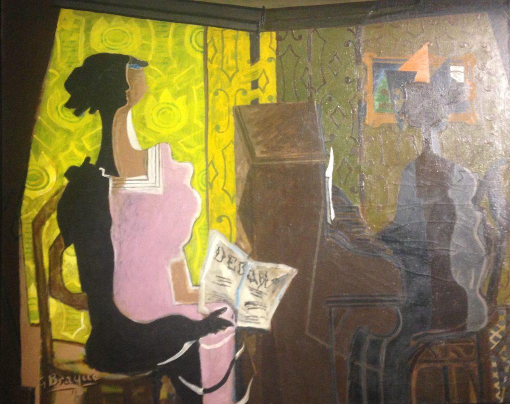« LE DUO » George BRAQUE (1882-1963) 1937-Huile sur toile-Centre Pompidou  19ème billet du blog FrancescArts | L'exposition « 21 rue la Boétie » au Musée Maillol. 3 2 1024x812