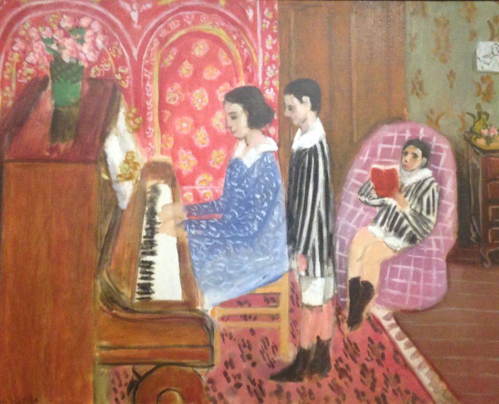 « La leçon de piano » Henri Matisse (1869-1954) Huile sur toile-Collection David Nahmad, Monaco  19ème billet du blog FrancescArts | L'exposition « 21 rue la Boétie » au Musée Maillol. 4 2 1024x829